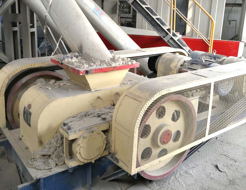 Roller crusher production line