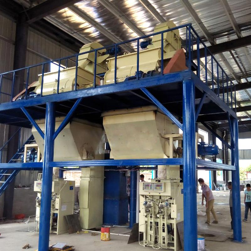 Dry mixed mortar production line