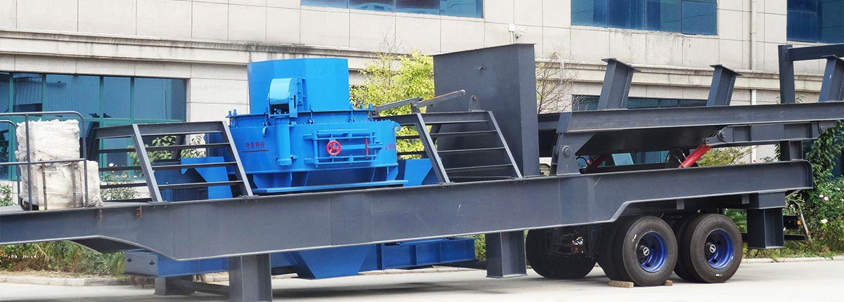 Portable sand making plant
